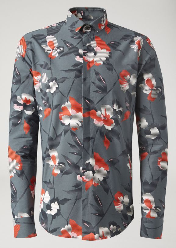 Emporio Armani - Floral Print Cotton Shirt