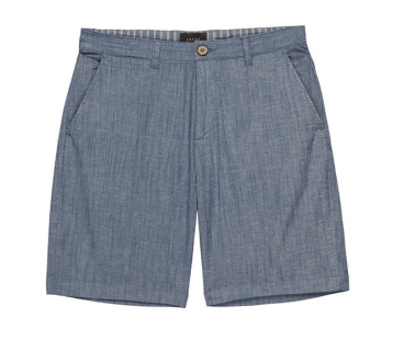 Jachs New York - Blue Stretch Chambray Shorts